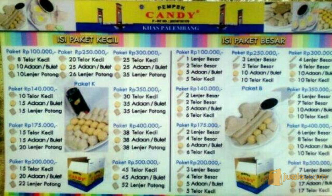 Pempek Candy Paket 100 Palembang Jualo Kota