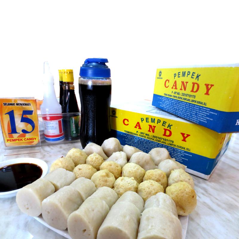 Pempek Empek Makanan Khas Palembang Terbuat Ikan Sagu Candy Kota