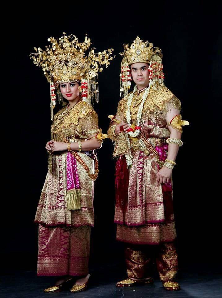 Pakaian Pengantin Adat Palembang Wedding Clothes Pulau Fantasy Kota