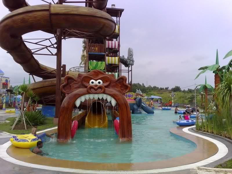 Rekreasi Air Fantasy Island Palembang Destinasi Pariwisata Indonesia Pulau Kota