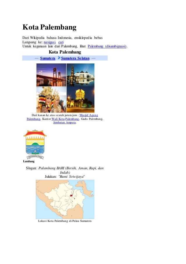 Sejarah Kota Palembang Wikipedia Bahasa Indonesia Ensiklopedia Bebas Langsung Navigasi