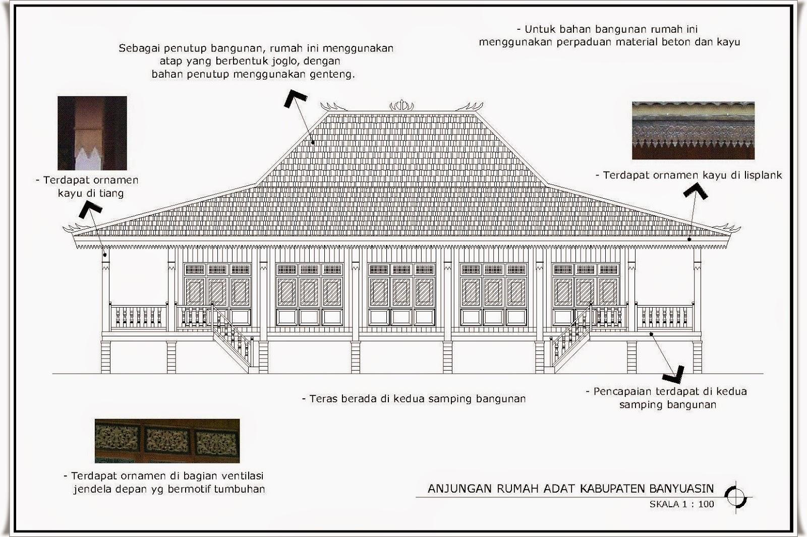 Budaya Sumatera Selatan Rumah Adat Kabupaten Banyuasin Limas Kota Palembang