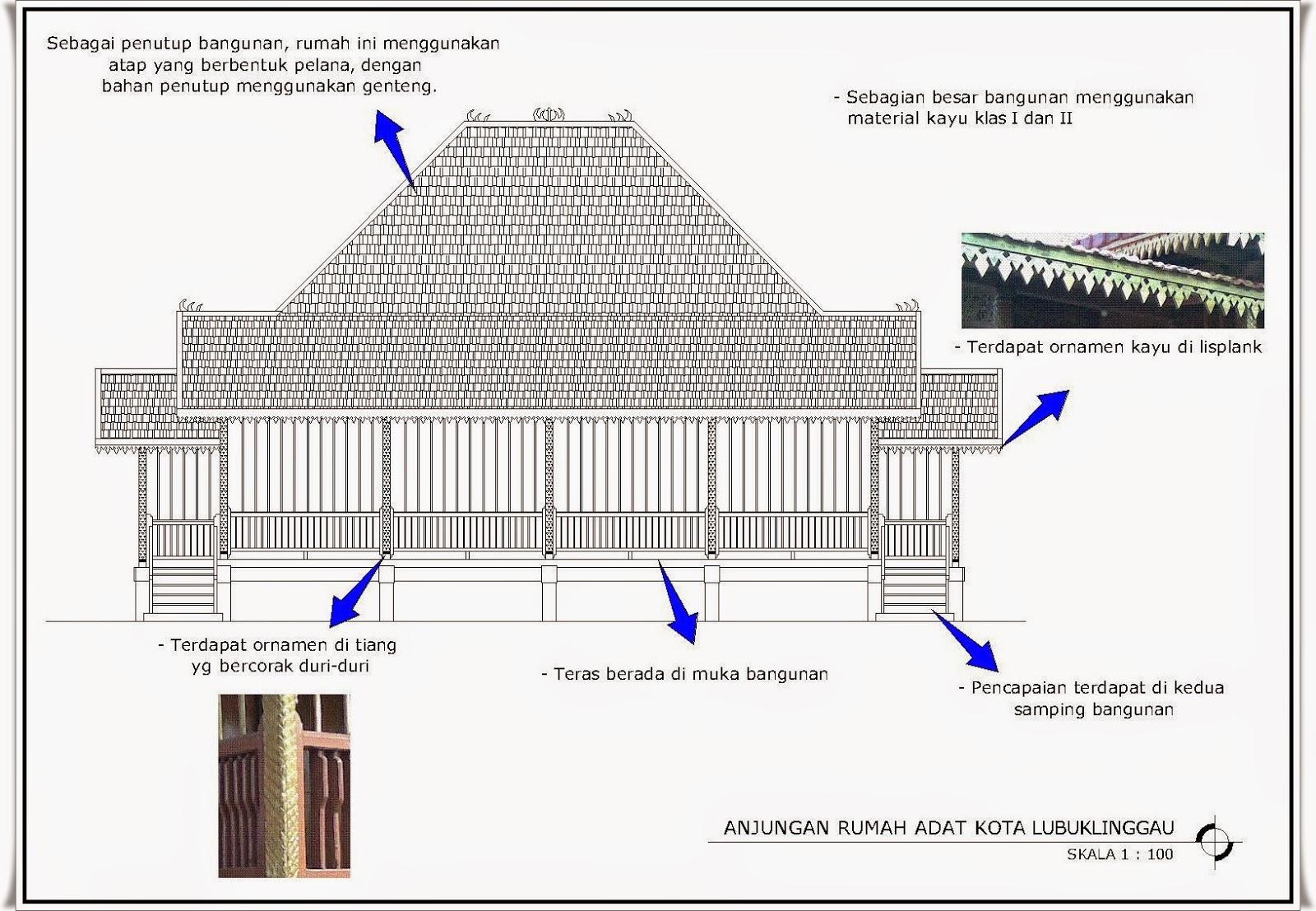 Budaya Sumatera Selatan Rumah Adat Kota Lubuklinggau Limas Palembang