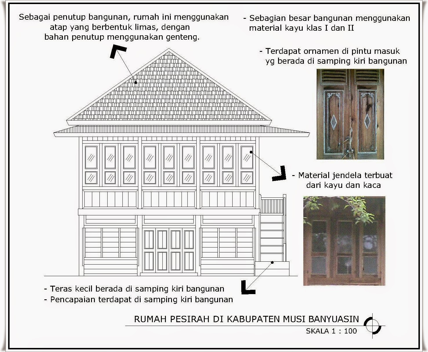 Gambar Rumah Limas Adat Palembang Denah Budaya Sumatera Selatan Kota