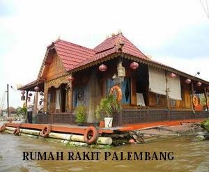 Rakit Rumah Adat Asal Palembang Sumatera Selatan Limas Kota