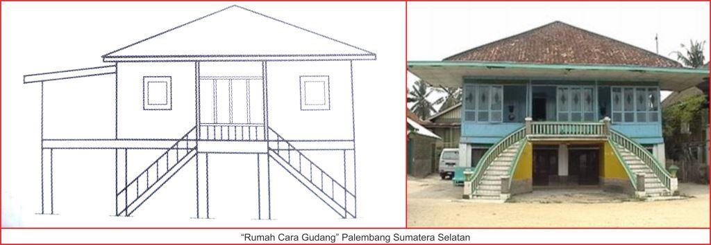 Rumah Adat Sumatera Selatan Lengkap Gambar Penjelasannya Seni Gudang Palembang