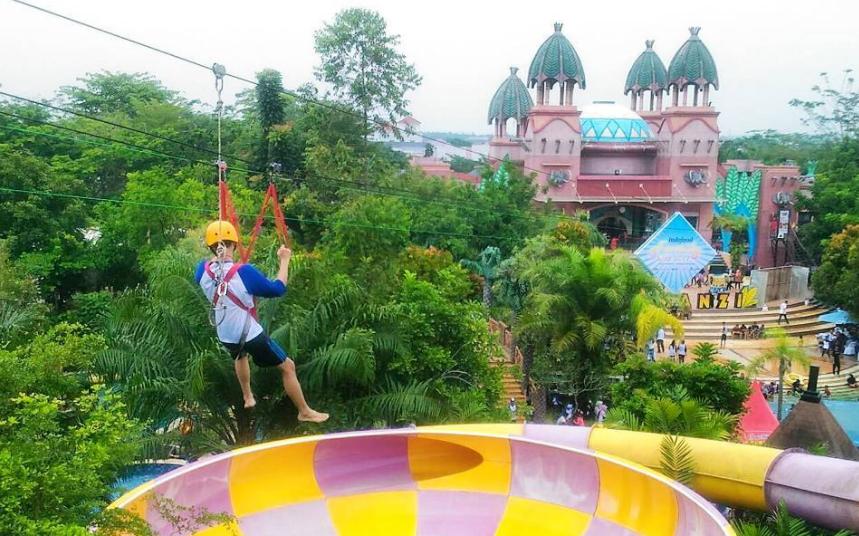 15 Tempat Wisata Terbaru Palembang Hits Dikunjungi Amanzi Waterpark Citragrand