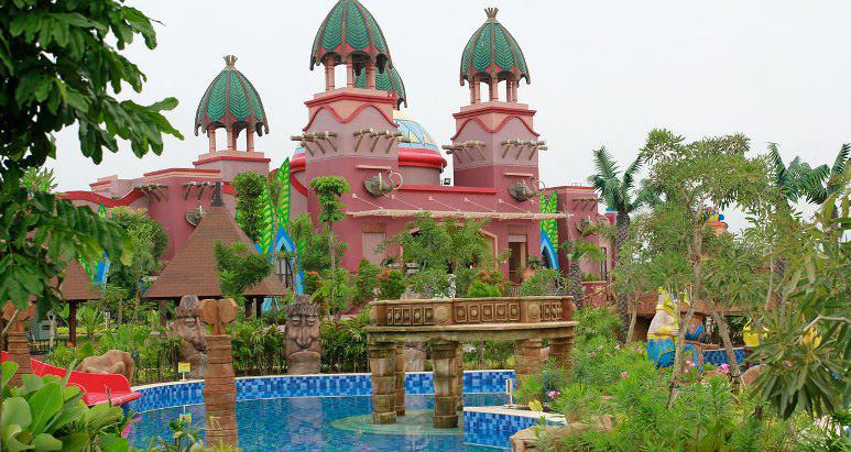 30 Daftar Tempat Wisata Palembang Sumsel Terkenal Pulau Amanzi Waterpark