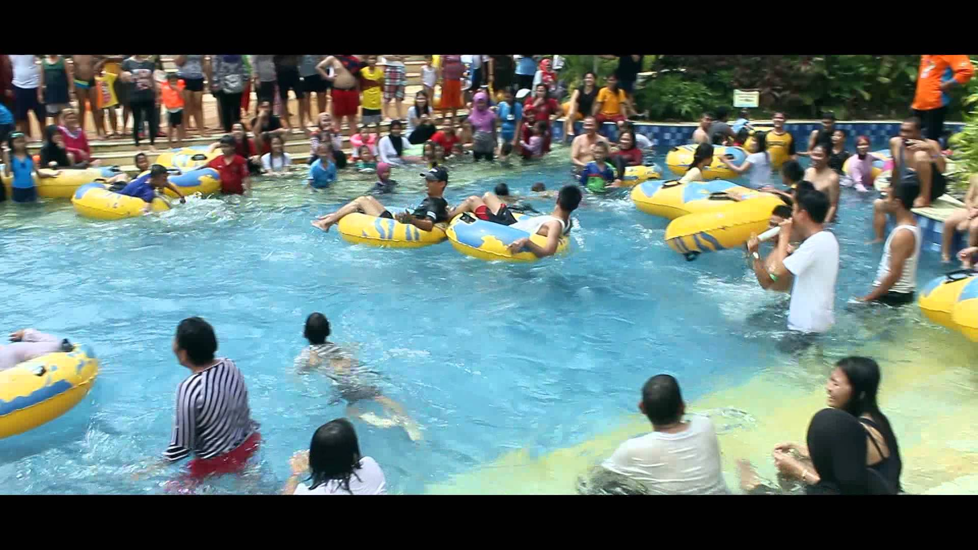 Amanzi Waterpark Palembang Freezyfun 24des 4jan Youtube Taman Air Citra