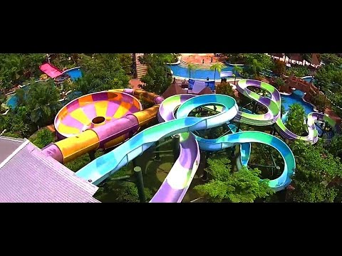 Amanzi Waterpark Palembang Indonesia Youtube Taman Air Citra Grand Kota