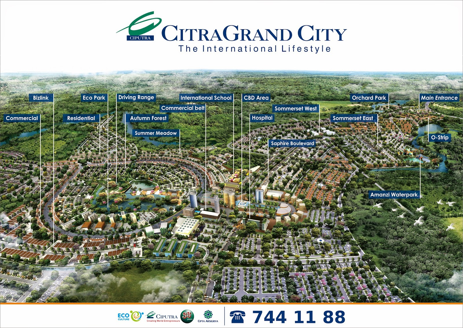 Citra Grand City Palembang Taman Air Amanzi Kota