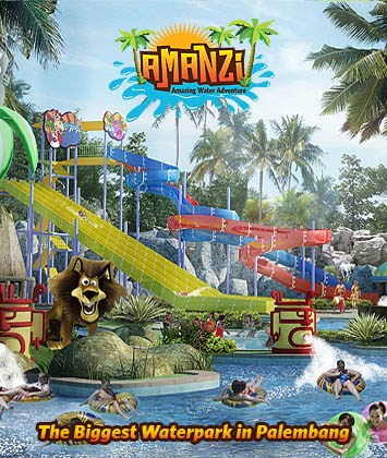 Review Amanzi Waterpark Palembang Trendy Galih Bertemu Taman Air Citra