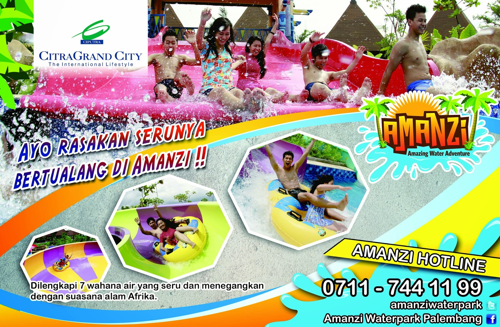 Seputar Citragrand City Palembang Amanzi Waterpark Bagi Wisatawan Datang Kota