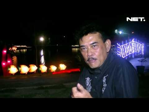 Pesona Taman Sejuta Lampu Pelangi Jakabaring Palembang Net5 Kota