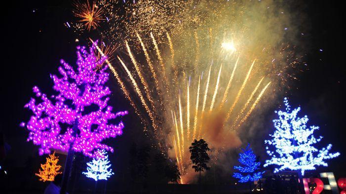 Pohon Cinta Taman Pelangi Jadi Rebutan Muda Mudi Berfoto Palembang