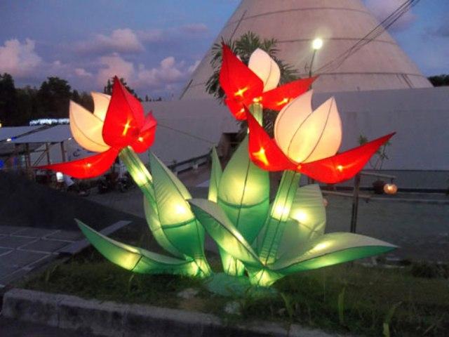 Taman Pelangi Jogja Malam Hari Kanal Palembang Kota