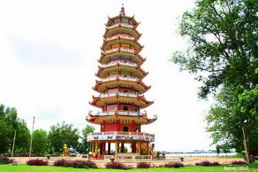 Palembang Pagoda Pulau Kemaro Taman Purbakala Kerajaan Sriwijaya Kota
