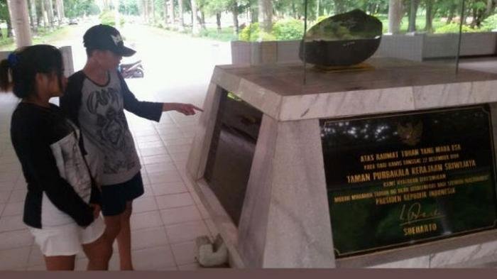Taman Purbakala Kerajaan Sriwijaya Palembang Sepi Pengunjung Kota
