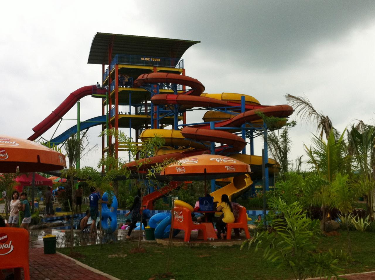 Objek Wisata Palembang Waterfun Opi Jakabaring Waterboom Kota