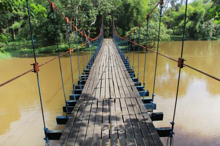 Punti Kayu Hutan Wisata Tengah Kota Indonesiakaya Pengunjung Merasakan Menyatu