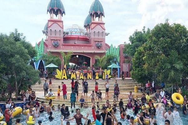 Amanzi Waterpark Citragrand City Wisata Taman Air Terbaik Palembang Keluarga