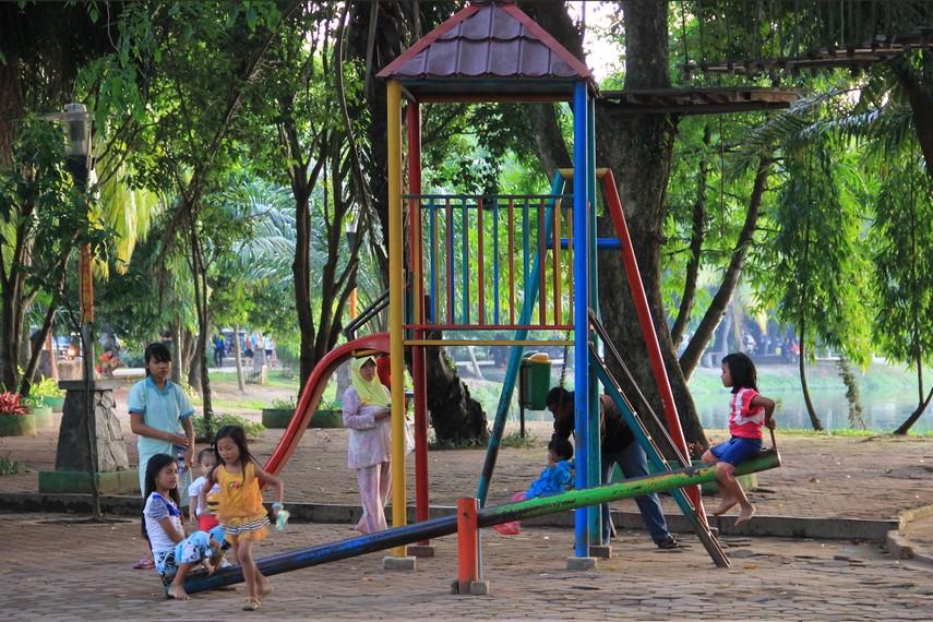 Taman Kambang Iwak Kota Kebanggaan Masyarakat Palembang Kerap Dijadikan Arena