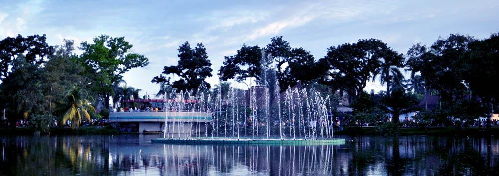 Taman Kambang Iwak Wisata Sejuk Gratis Sumatera Selatan Keluarga Kembang