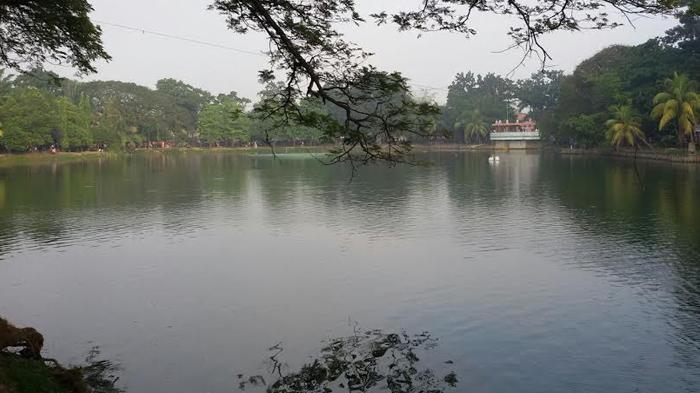 Taman Wisata Kambang Iwak Pusat Rekreasi Gratis Palembang Sejuknya Pagi