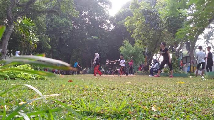 Taman Wisata Kambang Iwak Pusat Rekreasi Gratis Palembang Sejumlah Warga