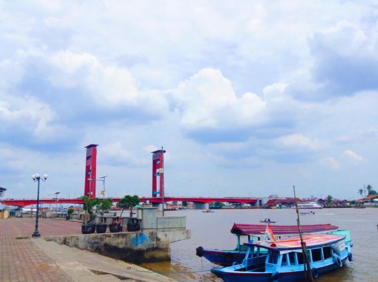 Ikon Kota Palembang Wisata Pulau Kemaro Perahu Oleh