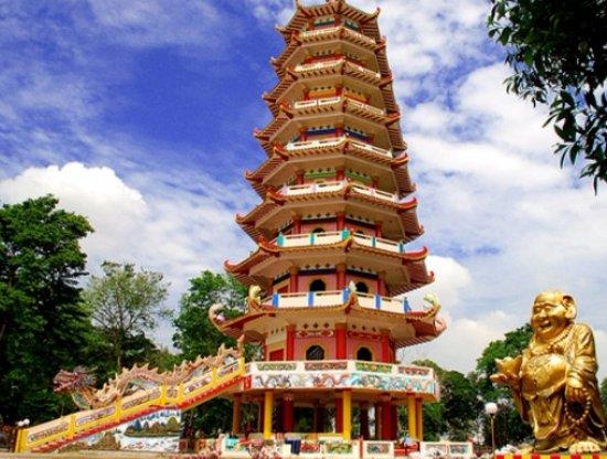 Pagoda Pulau Kemaro Palembang Picture Island Wisata Kota