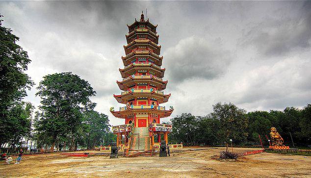 Wisata Pulau Kemaro Palembang Sumatera Selatan Infoindoku Pagoda Kota