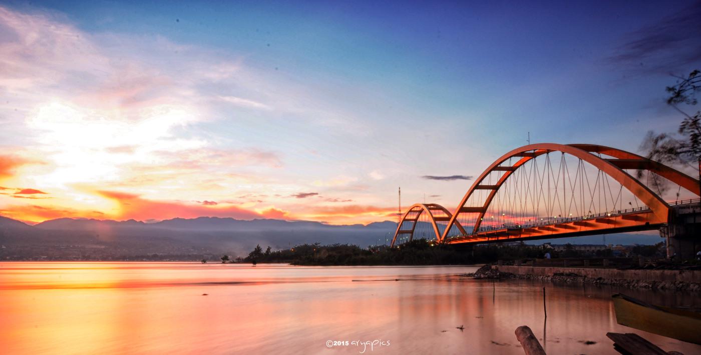 Menikmati Indahnya Sunrise Bumi Tadulako Topanjayo Jembatan Iv Kota Palu