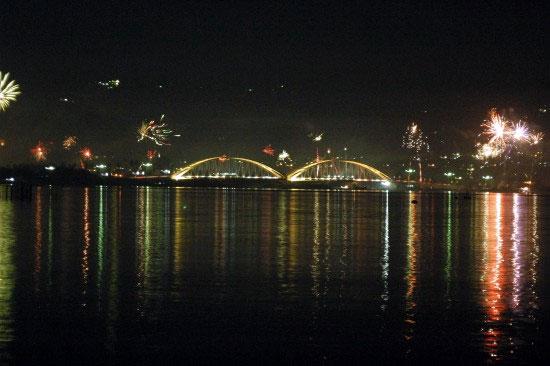 Sunset Talise Beach Celebes Evening Jembatan Iv Kota Palu