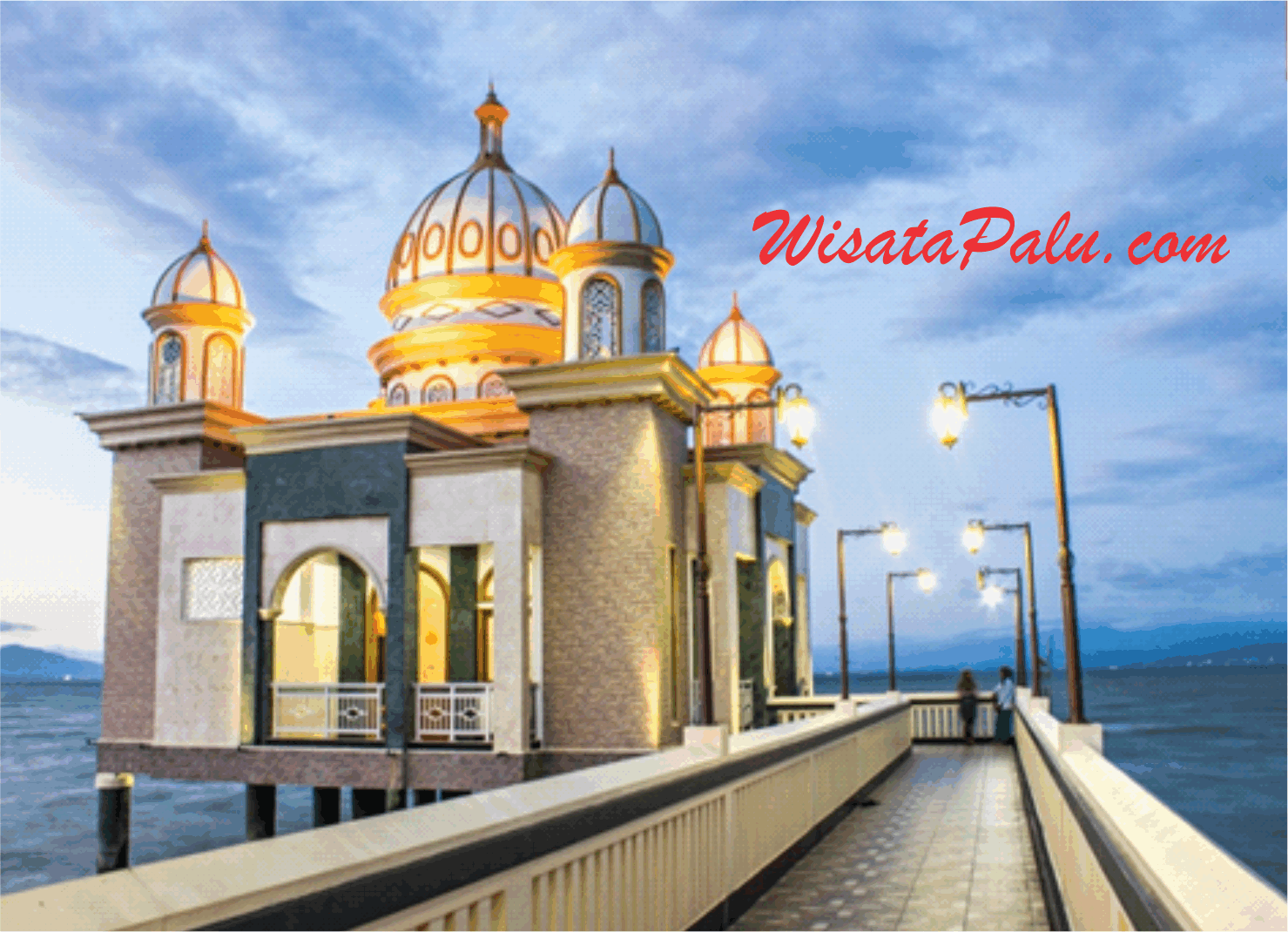 Wisata Religi Kota Palu Kubah Mesjid 7 Warna Jembatan Iv