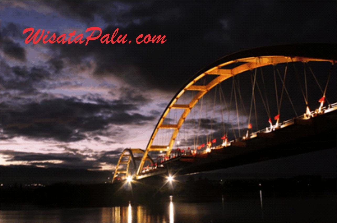 Wisata Religi Kota Palu Kubah Mesjid 7 Warna Jembatan Ponulele