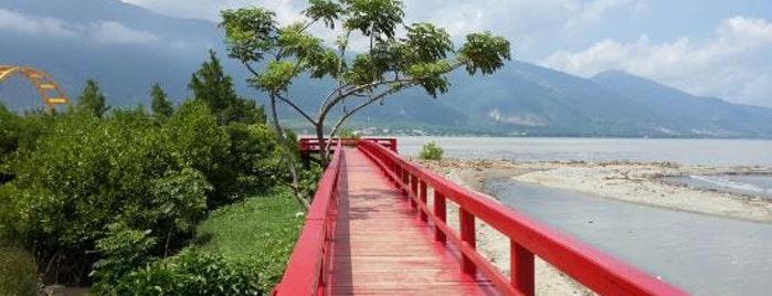 Outdoors Palu Sulawesi Tengah Jembatan Merah Talise Kota