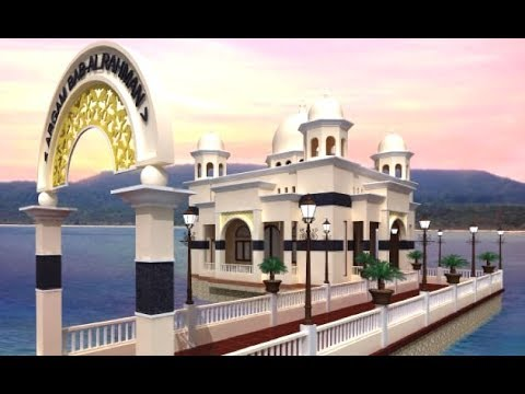 Floating Mosque Masjid Apung Argam Bab Al Rahman Palu Sulawesi