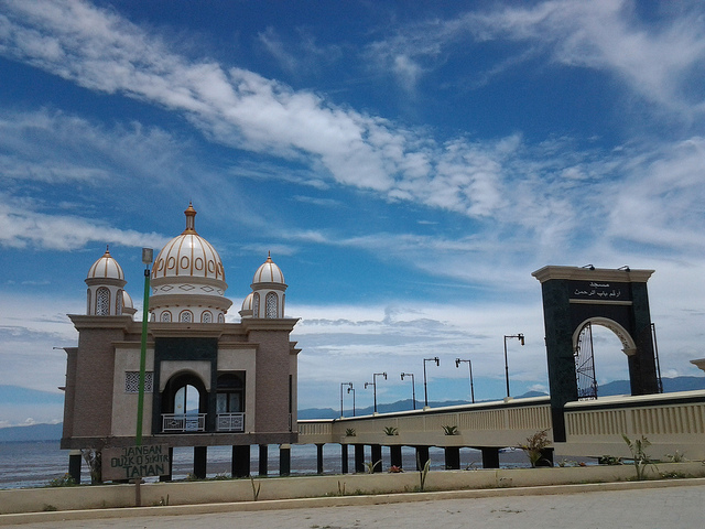 Masjid Terapung Arkam Babu Rahman Palu Bumi Nusantara Terletak Kawasan