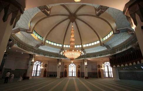 Rindu Masjid Arrahmah Terapung Kota Jeddah Interior Memang Cukup Menawan