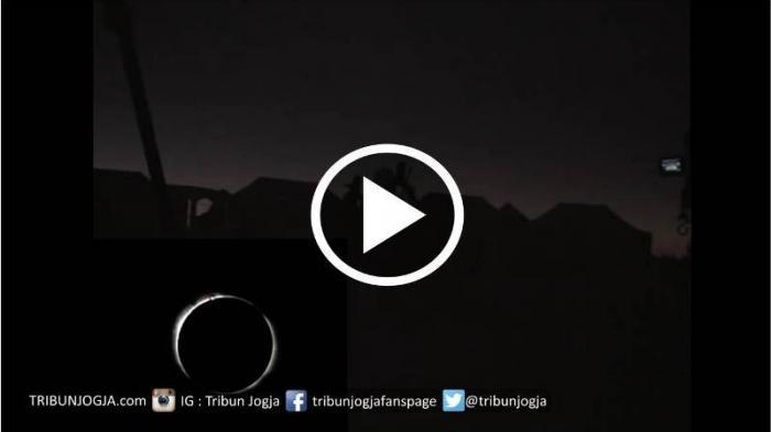 Video Merinding Beginilah Suasana Puncak Gerhana Matahari Total Tugu Kota