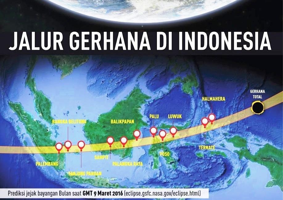 Wiyak Bumi Langit Berkunjung Tugu Gerhana Matahari Kota Jadi Total