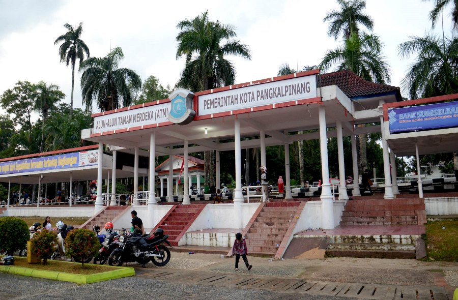Gubernur Beli Kawasan Alun Taman Merdeka Tampilan Podium Pangkalpinang Pemprov