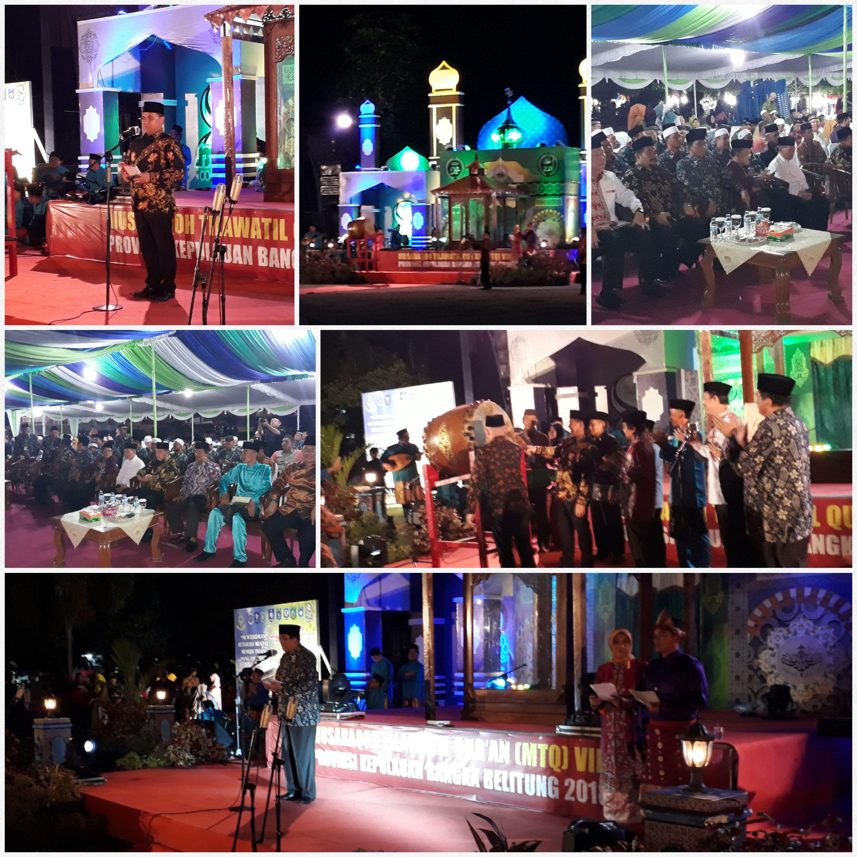 Kementerian Agama Provinsi Kepulauan Bangka Belitung Pembukaan Mtq Keterangan Foto