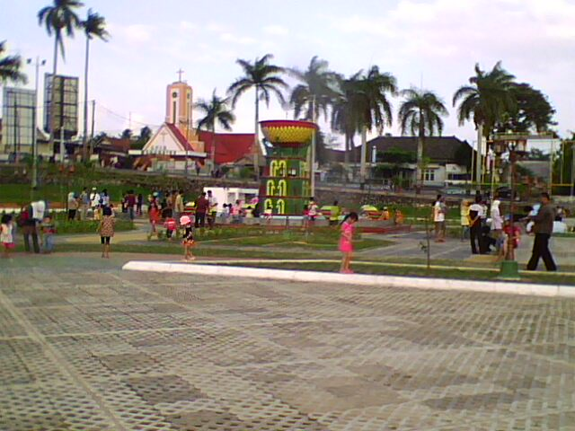 Lapangan Merdeka Pangkalpinang Qq Webster Taman Fountaine Berbentuk Tudung Saji