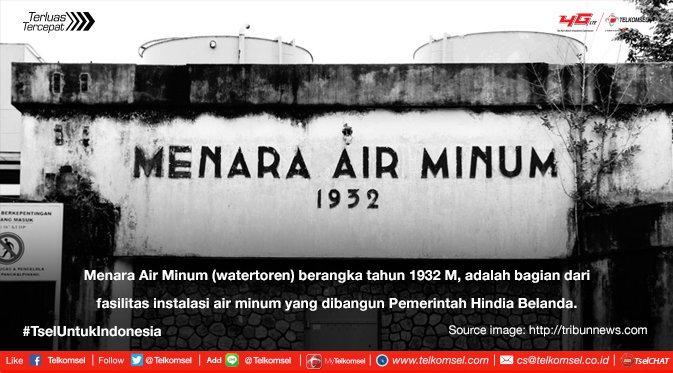 Telkomsel Twitter Nilai Sejarah Menara Air Minum Kota Pangkal Pinang