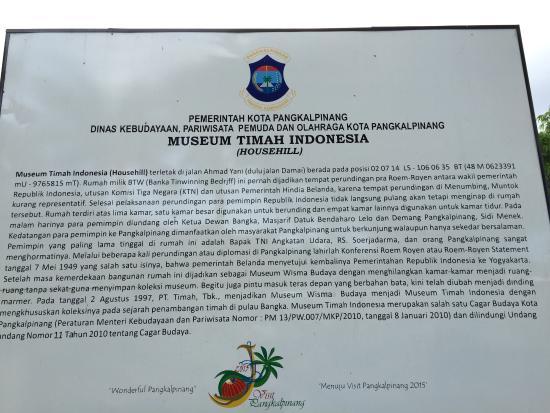 Mangkuk Kapal Keruk Timah Picture Tin Museum Pangkal Pinang Pemerintah