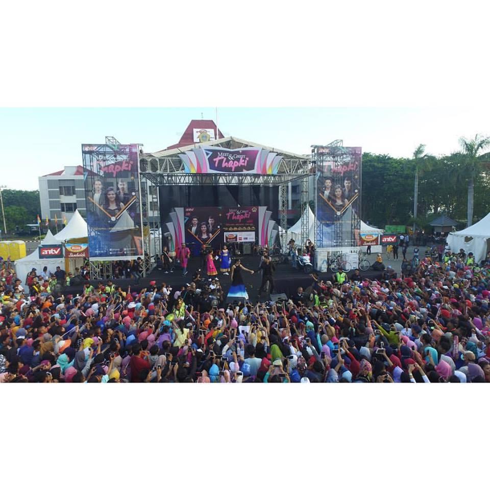 Meet Greet Thapki Ribuan Warga Memadati Lapangan Purna Mtq Pekanbaru