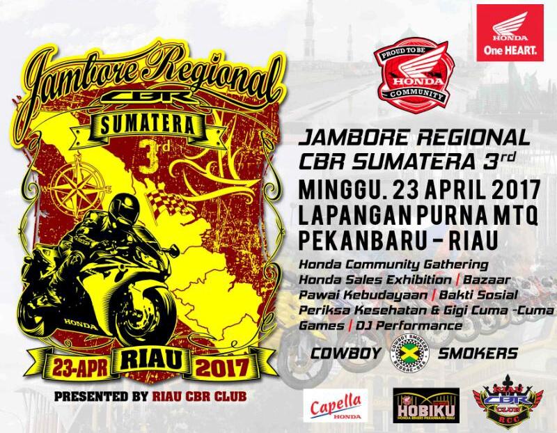 Riau Cbr Club Gelar Jamreg Sumatera 3 Pekanbaru Lapangan Purna