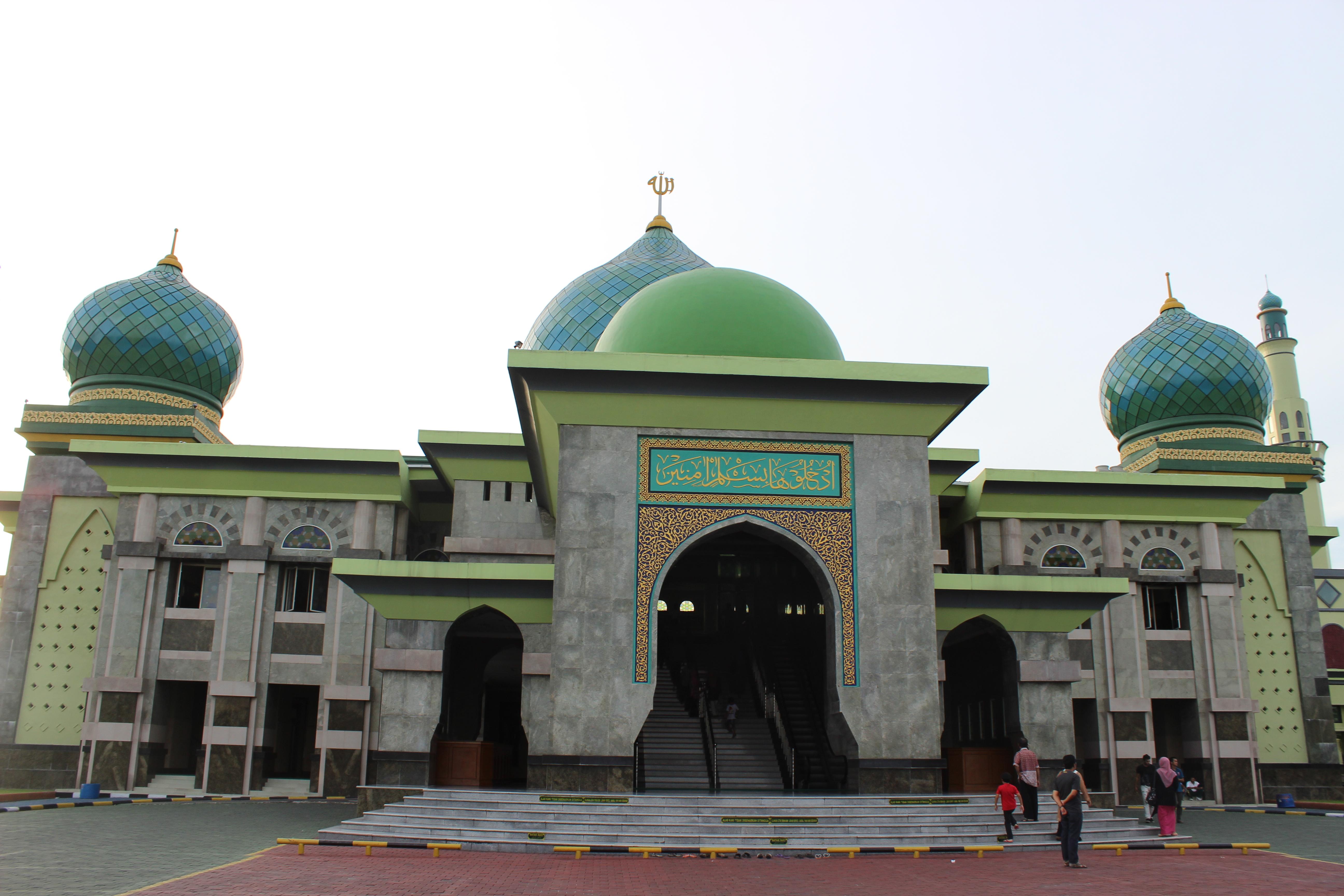 File Masjid Agung Nur Jpg Wikimedia Commons Pekanbaru Kota